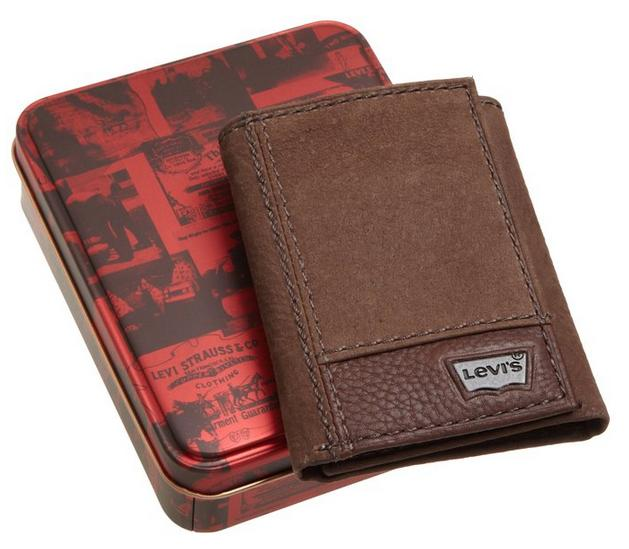 Levi's Mens Trifold Two-Tone Wallet