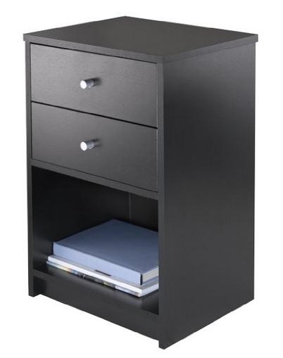Prime Members only! Winsome Ava Accent Table with 2-Drawer in Black Finish