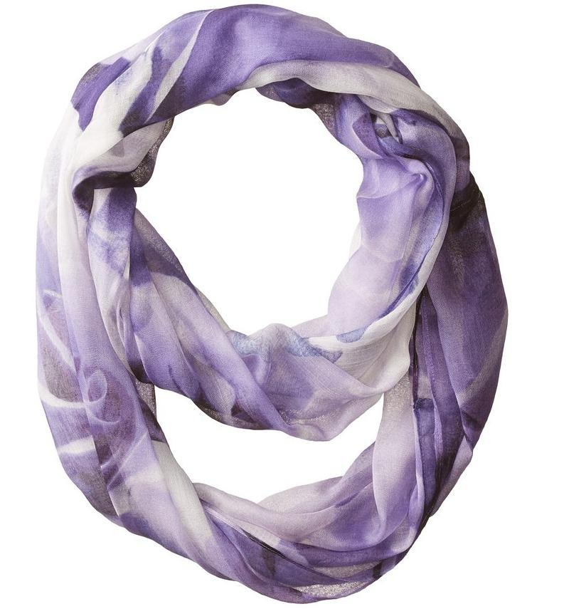 Lightning Deal Ivanka Trump Women's Rose Garden Infinity Scarf, One Size