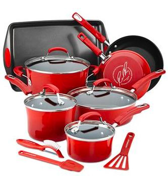 Rachael Ray 14-Piece Nonstick Cookware Set(3 colors)