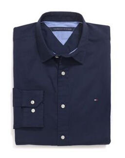 Tommy Hilfiger Men's Custom Fit Stretch Shirt