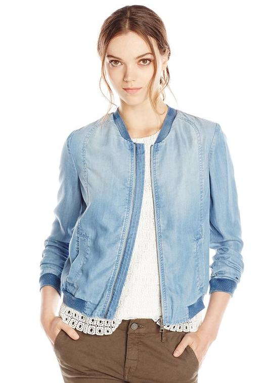 Sam Edelman Women's Tencel Bomber Jacket