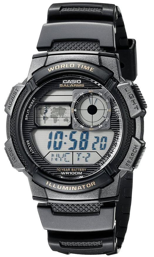$14 Casio Men's AE-1000W-1AVDF Resin Sport Watch with Black Band