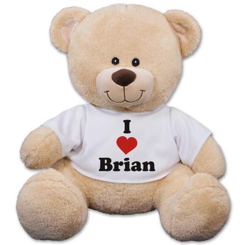 50% Off Personalized I Love You Teddy Bear