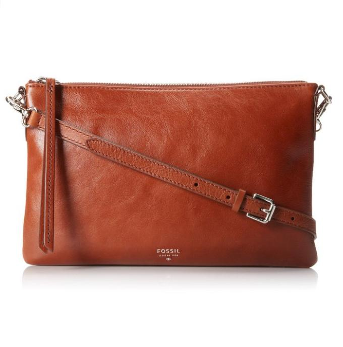 $57.59 Fossil Sydney Top Zip Cross Body Bag
