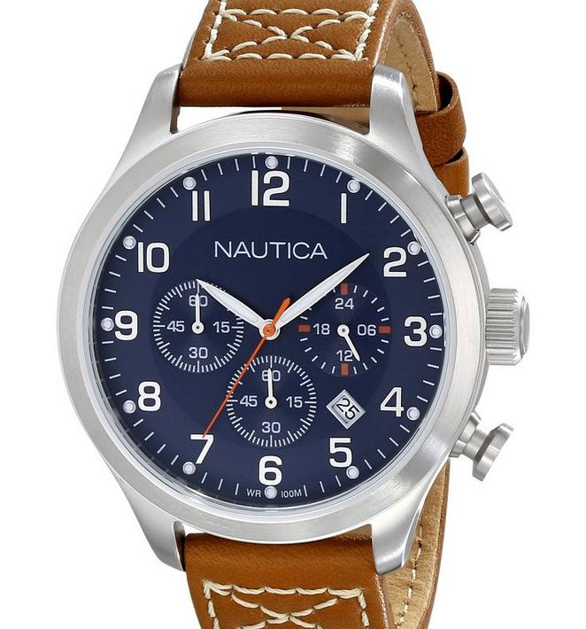 $73 Nautica Men's N14699G BFD 101 Chrono Classic Japanese Chronograph Movement Watch