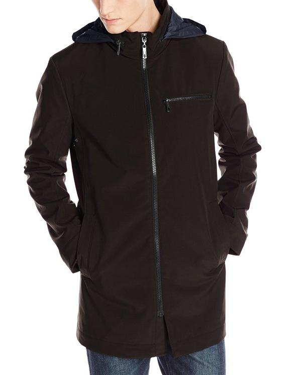 Kenneth Cole Reaction Men's Mid-Length Soft-Shell Coat