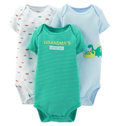 Carter's Newborn Boys' Just One You Made Bodysuit, 3-Pack