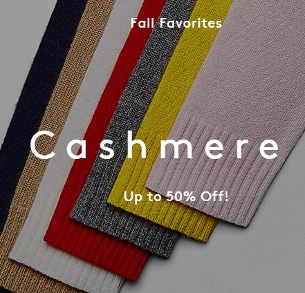Up to 50% Off Women's Cashmere Shop at Barneys Warehouse