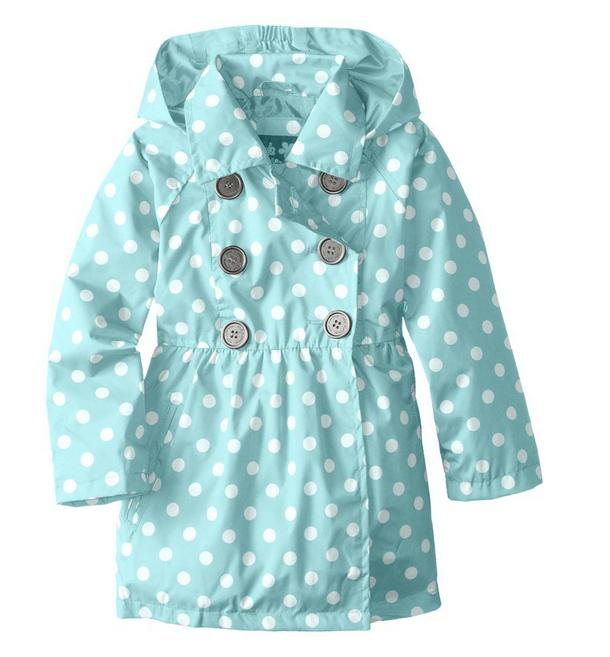 Pink Platinum Little Girls' Polka Dot Trench Jacket