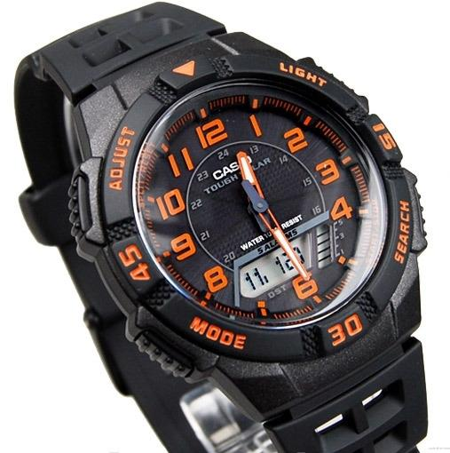 "$34.99 Casio Men's AQS800W-1B2VCF ""Slim"" Solar Multi-Function Ana-Digi Sport Watch"