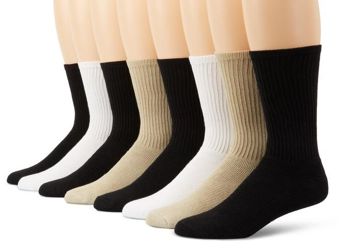 Dockers Men's Eight Pack of Cushioned Socks