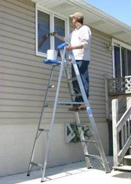 $49.98 Werner 8 ft. Aluminum Step Ladder