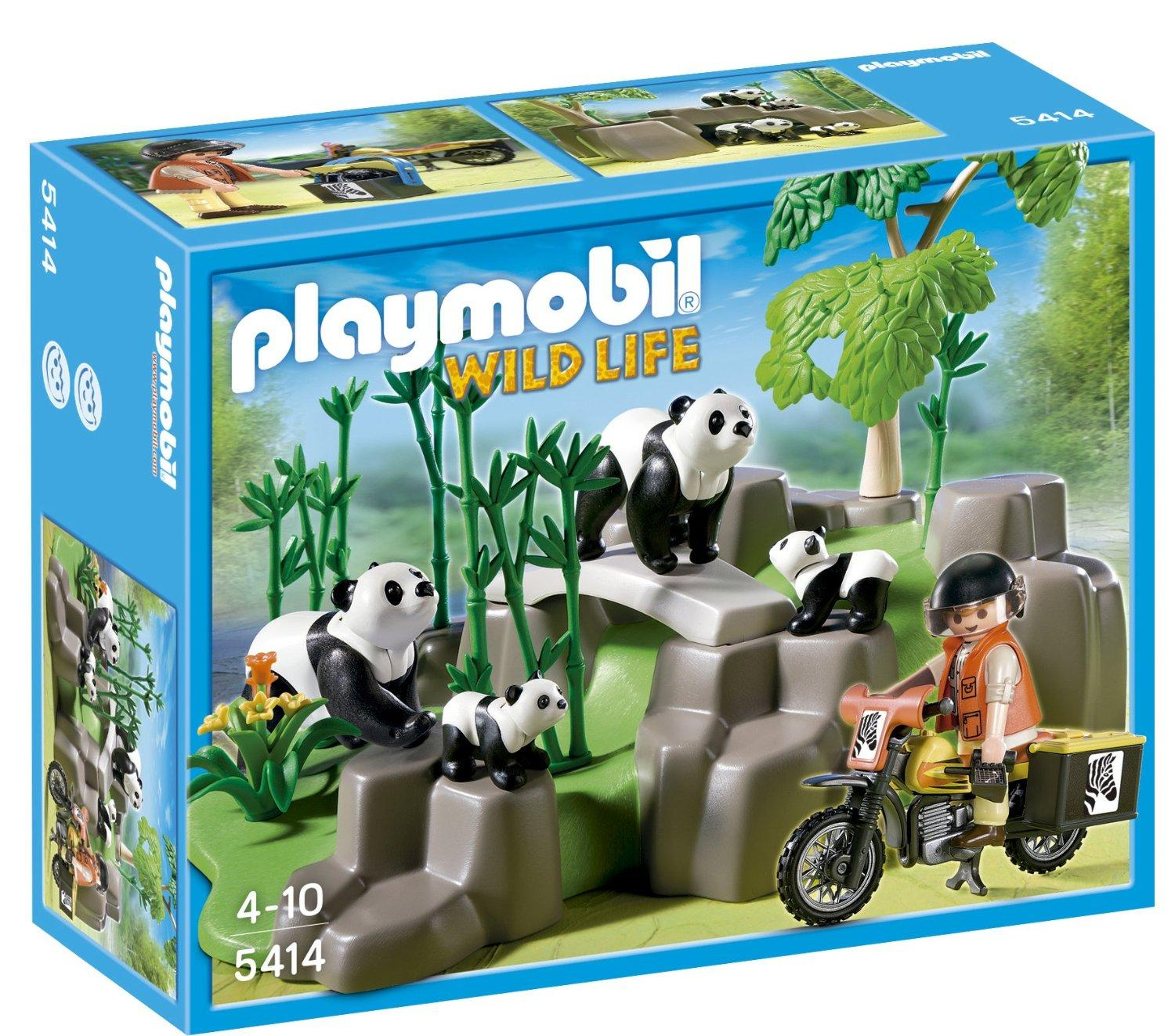 $10.49 PLAYMOBIL Pandas in Bamboo Forest Set