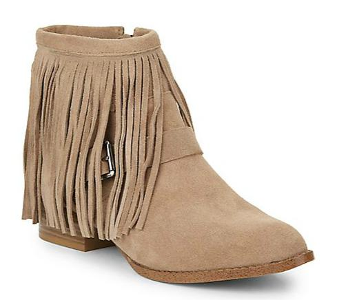 BCBGeneration Capricorn Fringe Suede Ankle Boots