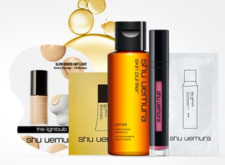 Free 5-Pieces Sample Set + Free Shipping with Any $50 Purchase @ Shu Uemura