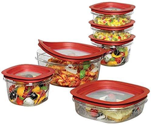 Rubbermaid 12-Piece New Premier Food Storage Container Set