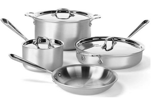 All-Clad 700393 MC2 Professional Master Chef 2 Stainless Steel Tri-Ply Bonded Cookware Set, 7-Piece