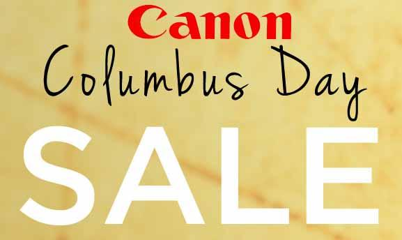 Up to 60% Off Columbus Day Sale @ Canon