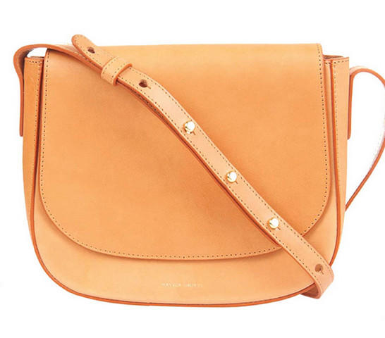 Last Day! $495 + Up to $300 Gift Card Mansur Gavriel Vegetable-Tanned Leather Crossbody Bag @ Bergdorf Goodman