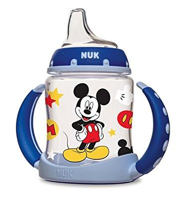 NUK Disney Mickey Mouse Learner Cup with Silicone Spout, 5-Ounce
