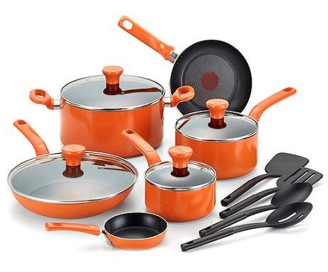 $50.56 T-fal C969SE Excite Nonstick Cookware Set, 14-Piece