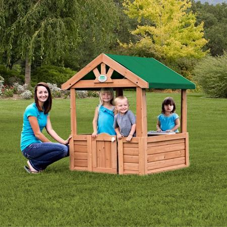 $67.83 Backyard Discovery Cozy Wooden Playhouse
