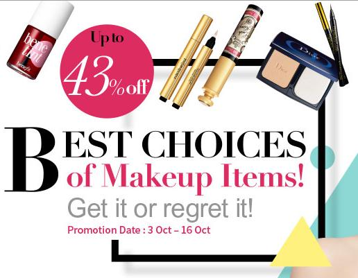 Up to 43% Off Best Choices of Makeup Items @ Sasa.com