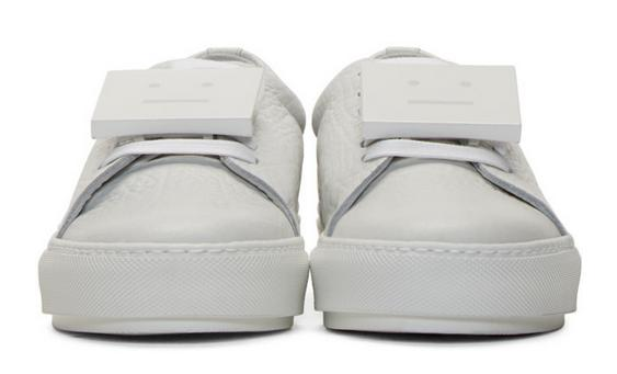 $400 Acne studios White Leather Adriana Sneakers
