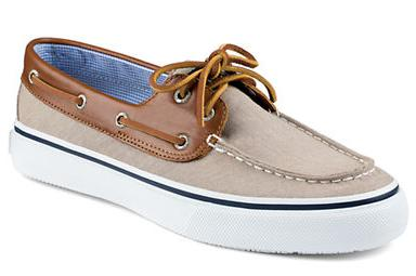 SPERRY Bahama Canvas and Leather Boat Shoes