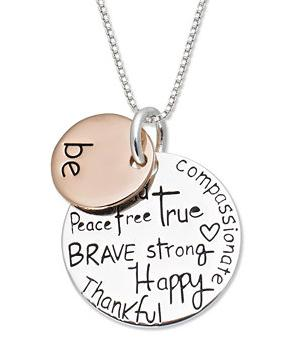 Extra 15% Off Inspirational Sterling Silver Necklace and Bangle @ macys.com