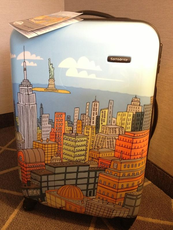 $117.03 Samsonite Luggage NYC Cityscapes Spinner 20, Blue Print