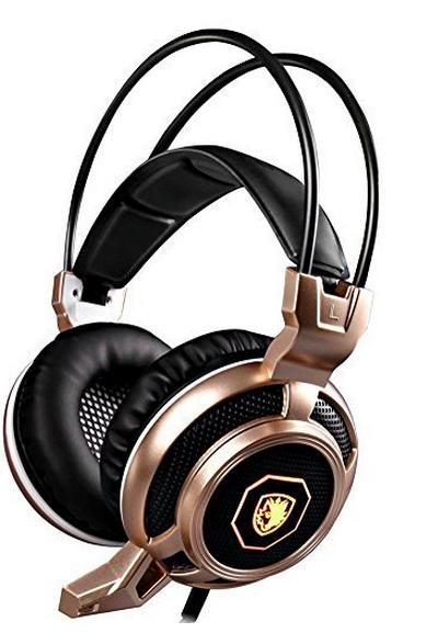 $22.99 Sades Stereo Gaming Headset (Gold & Black)