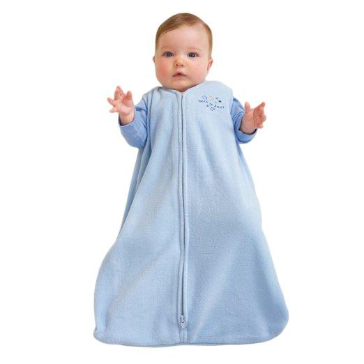 HALO SleepSack Micro-Fleece Wearable Blanket, Baby Blue, Small