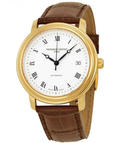 $499 FREDERIQUE CONSTANT Classics Automatic Silver Dial Gold-Plated Men's Watch