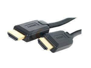 Coboc 6 ft. gold plated, High speed HDMI to HDMI A/V Cable (Black) - OEM
