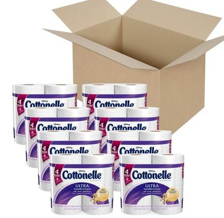 Cottonelle Ultra Comfort Care Double Roll Toilet Paper 64 Rolls