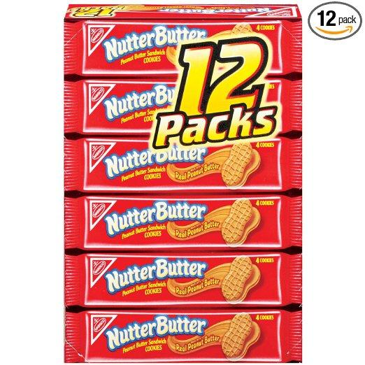 Nabisco Nutter Butter Cookies, Pack of 12, 22.8 oz