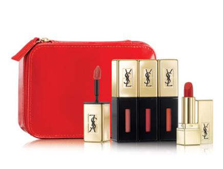 $75 Yves Saint Laurent Beaute NM Exclusive Glossy Stain Set +5 Samples