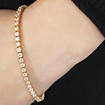 Tennis Bracelet with 10 ct Cubic Zirconia