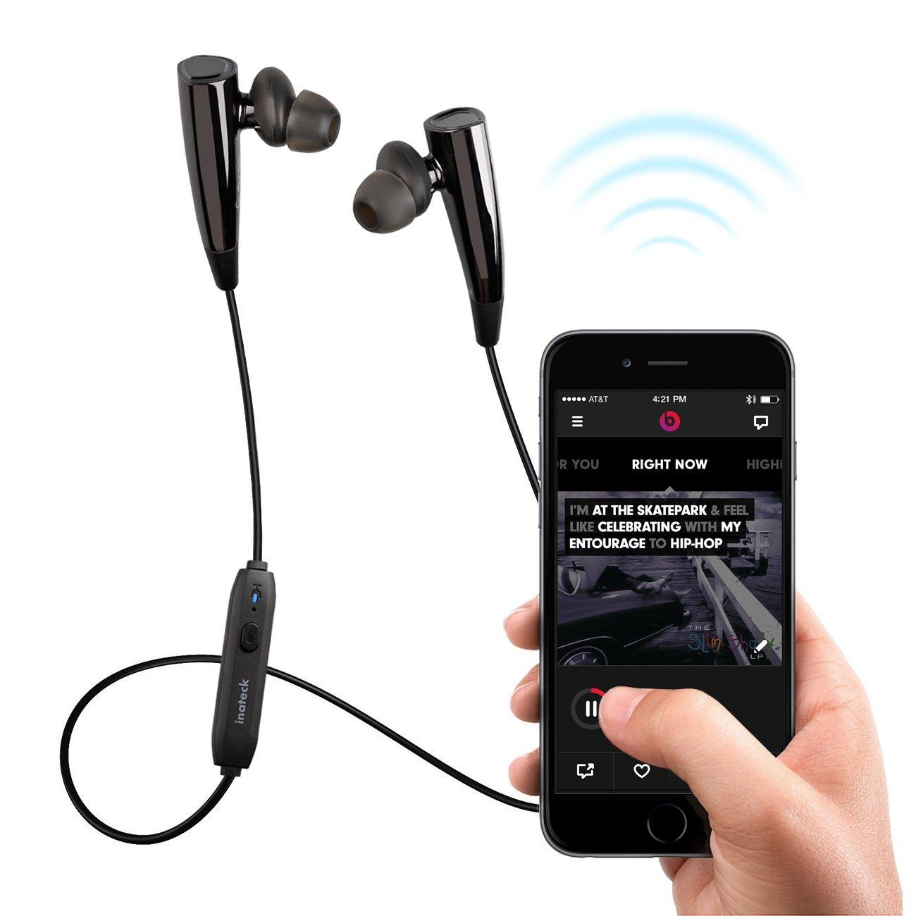Inateck Bluetooth 4.1 Weatherproof Stereo In-ear Headphones