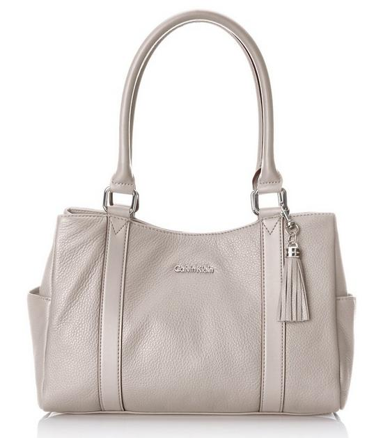 Lowest price! Calvin Klein Pebble Leather E/W Shopper Satchel Bag