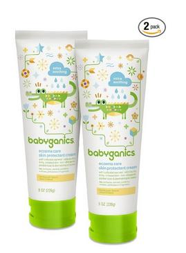 Babyganics Eczema Care Skin Protectant Cream,8 oz(Pack of 2)