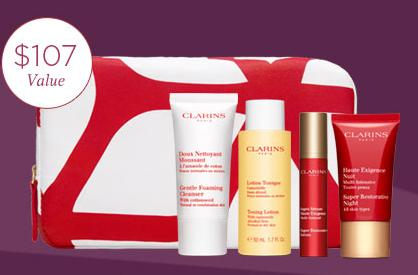 10% off + Free 5 Piece Gift with Purchase of $60 @ Clarins