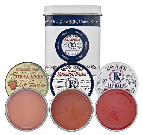 Rosebud Three Lavish Layers Lip Balm