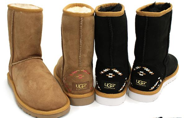 UGG Classic Short Rustic Weave Women's Boots On Sale @ 6PM.com