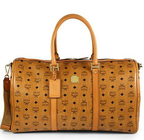 $847.5 MCM Heritage Large Coated-Canvas Weekender @ Saks Fifth Avenue