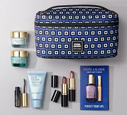 Free 9 piece Gift with $45 Estee Laud...