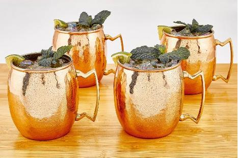 $39.99 Old Dutch 16-Ounce Solid Copper Hammered Moscow Mule Mug, Set of 4
