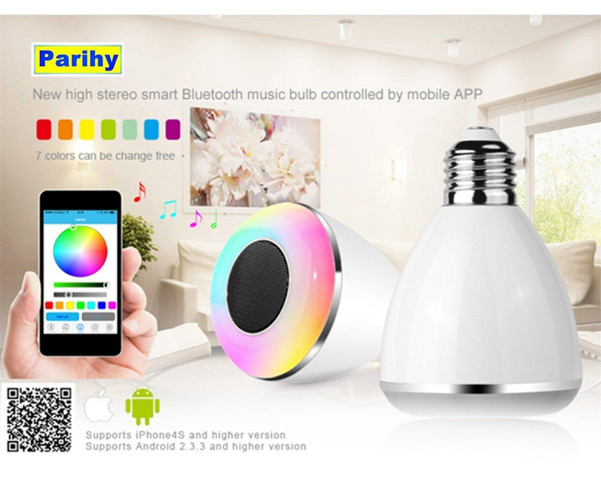 $23.99 Parihy pl-07 Smart LED Color Changing Bulb with Wireless Bluetooth and Speaker